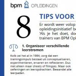 8 tips voor een top training